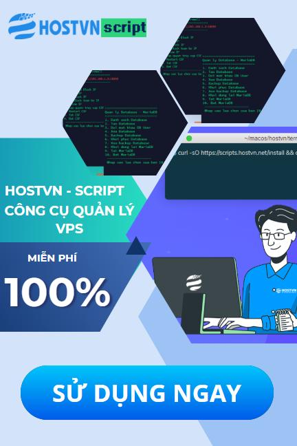 Hostvn HOSTVN SCRIPT - Công cụ quản lý VPS
