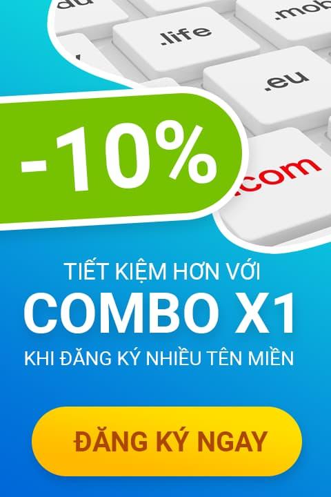 Hostvn Combo X1 khi đăng ký nhiều tên miền