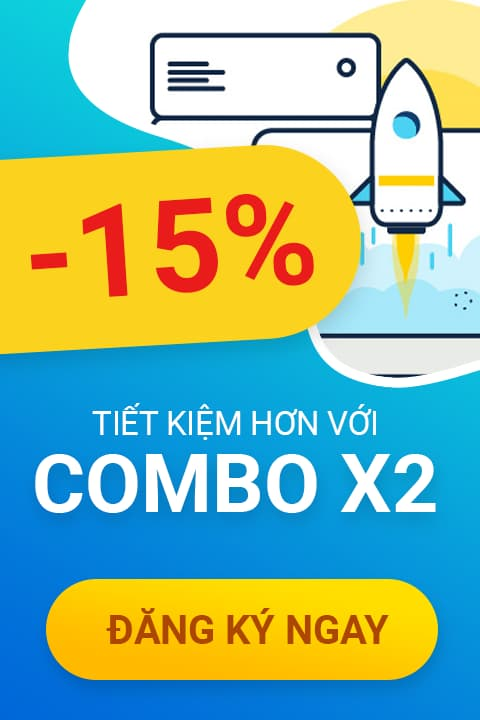 Hostvn Tiết kiệm hơn với Combo X2