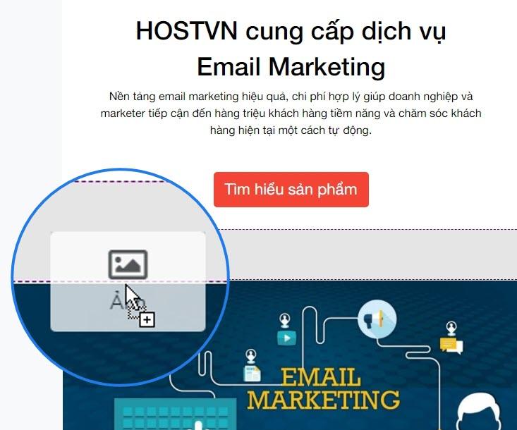 Thiết kế Email Marketing bằng kéo thả
