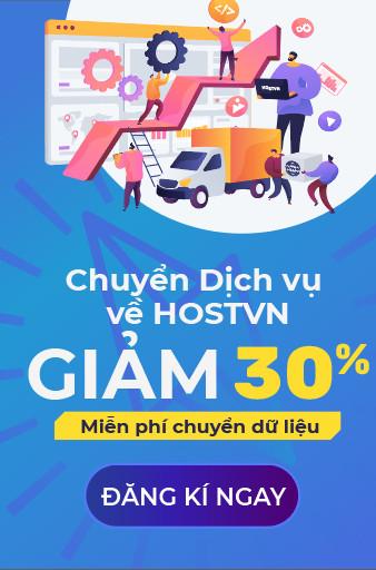Hostvn Chuyển dịch vụ về HOSTVN